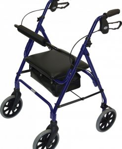 Blue 4 wheel rollator